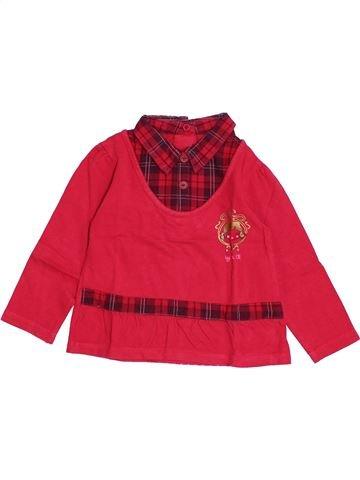 T-shirt manches longues fille LA COMPAGNIE DES PETITS rouge 3 ans hiver #1369293_1
