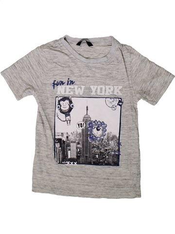 T-shirt manches courtes garçon GEORGE gris 6 ans été #1369319_1