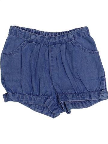 Short - Bermuda fille BOUT'CHOU bleu 3 ans été #1369327_1