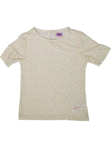 T-shirt manches courtes fille F&F blanc 9 ans été #1369369_1