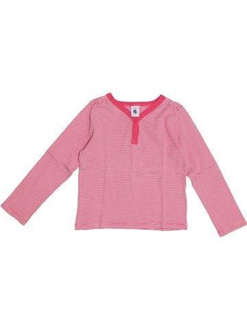 Camiseta de manga larga niña PETIT BATEAU rosa 6 años invierno #1369400_1