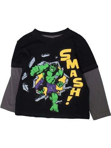 T-shirt manches longues garçon SUPERS HÉROS noir 5 ans hiver #1369458_1