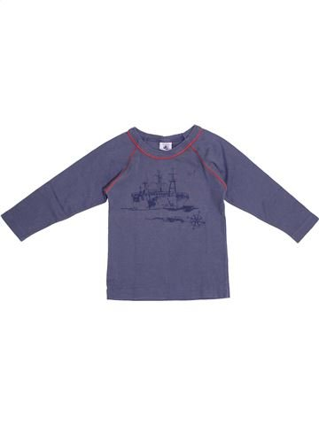 Camiseta de manga larga niño PETIT BATEAU azul 2 años invierno #1369523_1