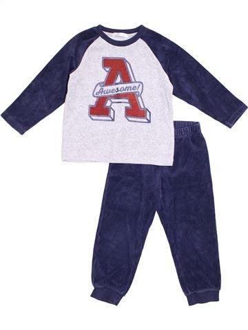 Pijama de 2 piezas niño GEMO azul 4 años invierno #1369539_1