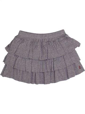 Falda niña PETIT BATEAU gris 3 años invierno #1369904_1