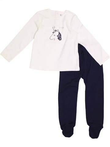 Pyjama 2 pièces fille LA REDOUTE CRÉATION blanc 3 ans hiver #1369921_1