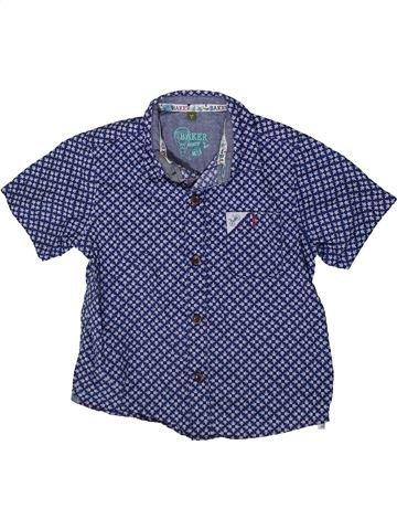 Chemise manches courtes garçon BAKER bleu 4 ans été #1370015_1