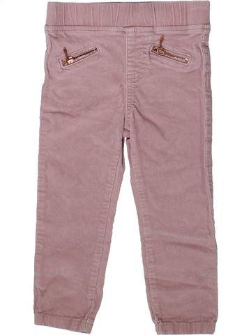 Pantalon fille F&F rose 2 ans hiver #1370081_1