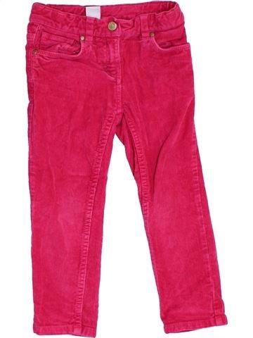 Pantalón niña PETIT BATEAU rosa 3 años invierno #1370124_1