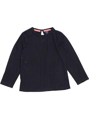 T-shirt manches longues fille KIABI bleu foncé 5 ans hiver #1370165_1