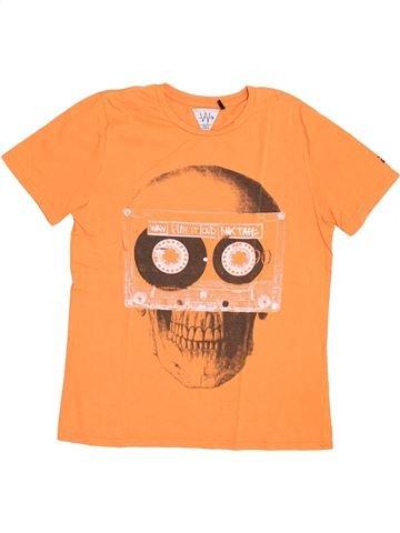 T-shirt manches courtes garçon IKKS orange 13 ans été #1370238_1