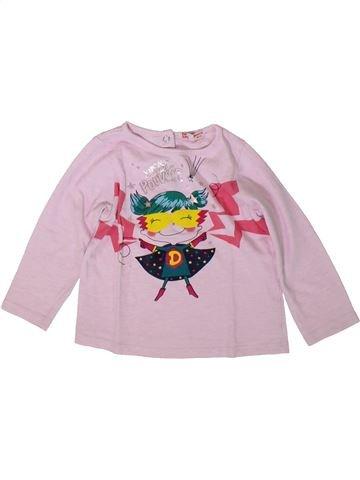 Camiseta de manga larga niña DPAM rosa 2 años invierno #1370750_1