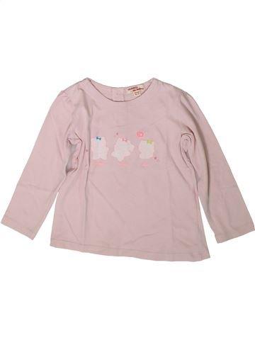 Camiseta de manga larga niña DPAM rosa 2 años invierno #1370751_1