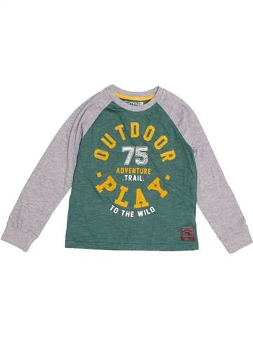 T-shirt manches longues garçon F&F vert 6 ans hiver #1370765_1