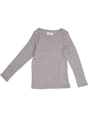 T-shirt manches longues garçon F&F gris 6 ans hiver #1370997_1