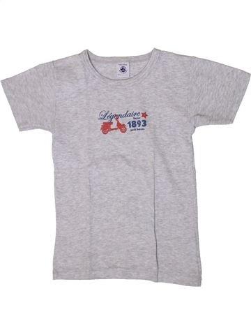 T-shirt manches courtes garçon PETIT BATEAU gris 8 ans été #1371010_1