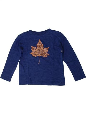 T-shirt manches longues garçon MANGO bleu 5 ans hiver #1371134_1