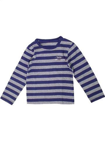 T-shirt manches longues garçon ORCHESTRA violet 4 ans hiver #1371145_1
