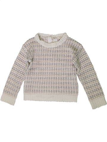 Pull fille CREEKS gris 4 ans hiver #1371177_1