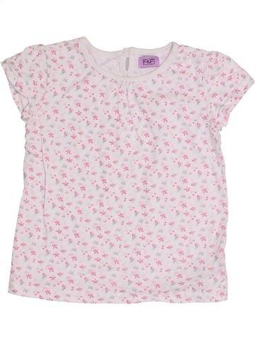T-shirt manches courtes fille F&F blanc 5 ans été #1371210_1