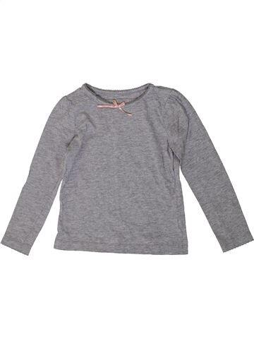 T-shirt manches courtes fille TU gris 3 ans été #1371351_1