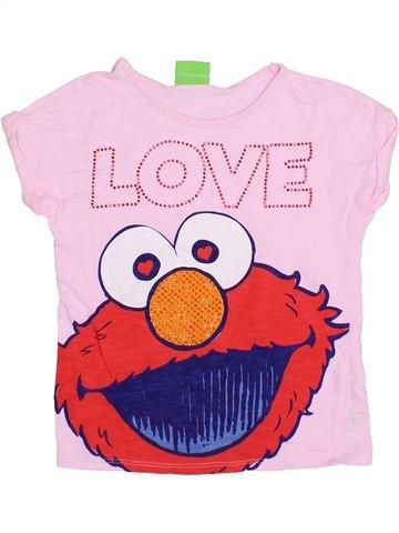 T-shirt manches courtes fille GEORGE violet 6 ans été #1371526_1