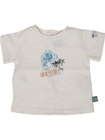 T-shirt manches courtes garçon SERGENT MAJOR blanc 3 mois été #1371531_1