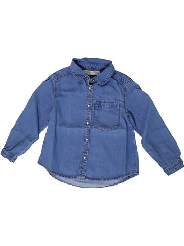 Blusa de manga larga niña ZARA azul 4 años invierno #1371656_1