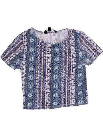 T-shirt manches courtes fille NEW LOOK gris 13 ans été #1371839_1