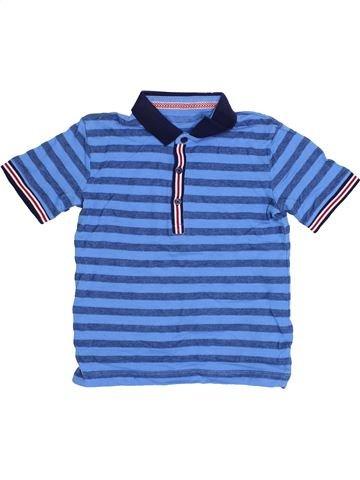 Polo manches courtes garçon SANS MARQUE bleu 5 ans été #1371848_1