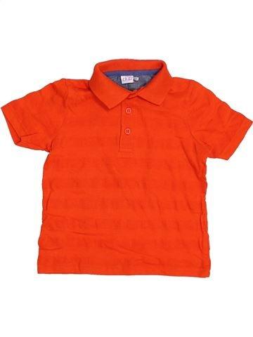 Polo de manga corta niño MINI CLUB rojo 4 años verano #1371900_1