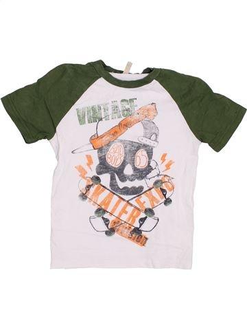 T-shirt manches courtes garçon BENETTON vert 5 ans été #1372046_1