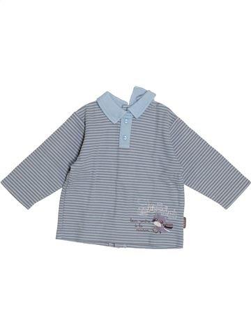 T-shirt manches longues garçon ALPHABET gris 6 mois hiver #1372978_1