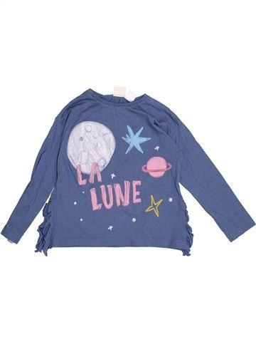 Camiseta de manga larga niña ZARA azul 4 años invierno #1374068_1