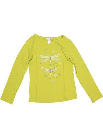 Camiseta de manga larga niña OKAIDI amarillo 8 años invierno #1374720_1