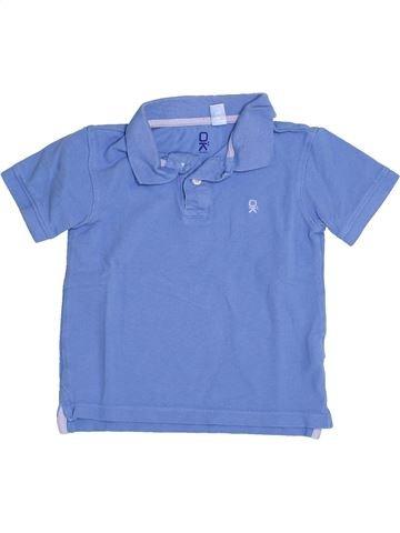 Polo de manga corta niño OKAIDI azul 4 años verano #1374861_1