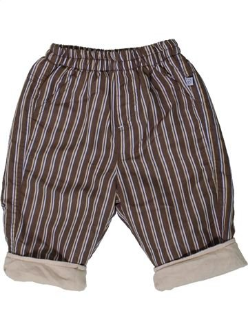 Pantalon garçon OKAY marron 6 mois hiver #1375069_1
