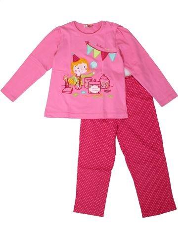 Pijama de 2 piezas niña DPAM rosa 4 años invierno #1375247_1