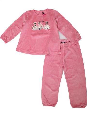Pijama de 2 piezas niña SERGENT MAJOR rosa 4 años invierno #1375252_1