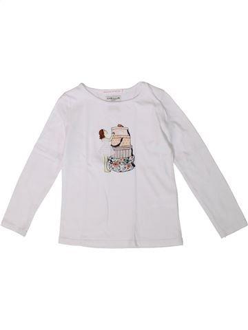 Camiseta de manga larga niña CYRILLUS blanco 4 años invierno #1375306_1