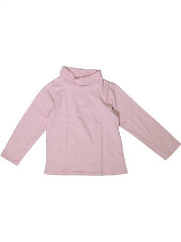 Camiseta de cuello alto niña OKAIDI rosa 3 años invierno #1375316_1