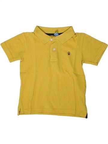 Polo de manga corta niño OKAIDI amarillo 5 años verano #1375398_1