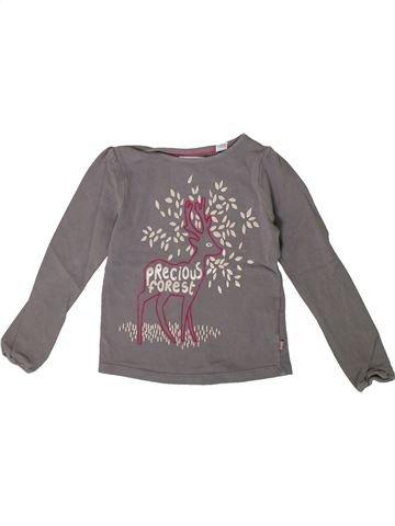 Camiseta de manga larga niña OKAIDI gris 4 años invierno #1375555_1