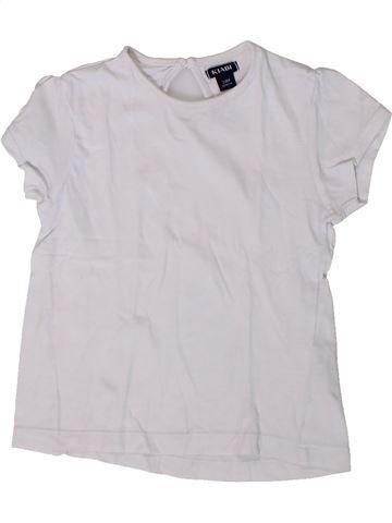 T-shirt manches courtes fille KIABI blanc 2 ans été #1375649_1