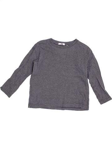 Camiseta de manga larga niño UNIQLO gris 5 años invierno #1376531_1