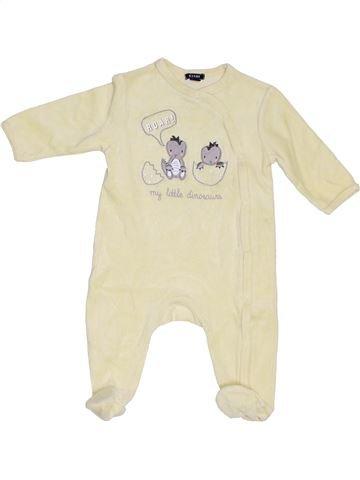 Pyjama 1 pièce garçon KIABI beige 6 mois hiver #1376713_1