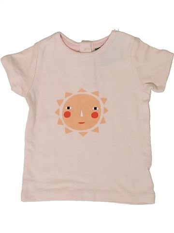 Camiseta de manga corta niña JOHN LEWIS beige 6 meses verano #1377256_1