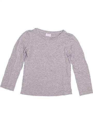 T-shirt manches longues garçon F&F gris 5 ans hiver #1377588_1