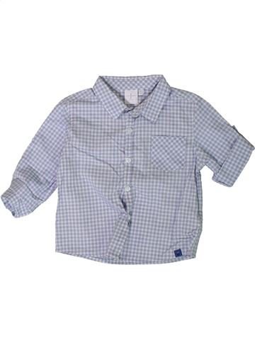 Chemise manches longues garçon JASPER CONRAN gris 12 mois hiver #1377749_1
