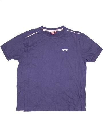 T-shirt manches courtes garçon SLAZENGER bleu 13 ans été #1377898_1